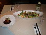 夢の島マリーナ レストラン フォアグラ &きのこのサラダ.JPG
